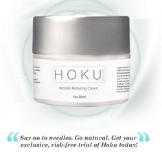 Hoku Wrinkle Reducing Cream is specially formulated to improve skin's firmness, texture and elasticity, whilst reducing and avoiding fine lines and wrinkles.
