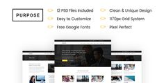 awesome Objective Business enterprise PSD Template (Business enterprise)