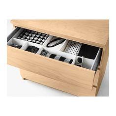 SKUBB Box, set of 6 - white, - IKEA - drawer dividers for belts
