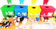 ΑΝΑΚΥΚΛΩΣΗ-ΒΙΩΜΑΤΙΚΟ ΣΧΟΛΕΙΟ-ΖΩΗ ΧΩΡΙΣ ΣΚΟΥΠΙΔΙΑ   Ανακύκλωση-Η ζωή χωρίς σκουπίδια:   Μείωση -επαναχρησιμοποίηση-ανακύκλωση.            Σ... Crafts To Make, Crafts For Kids, Trash Bins, Educational Activities, Earth Day, Recycling, Preschool, Creations, Blog