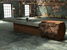 Arbeitsplatte mit Betonoptik – Küchenarbeitsplatten aus Beton – Vor- und Nachteile -