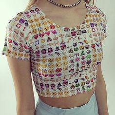 Emoji crop top! Buy it at SHOPJEEN.com @omweekend