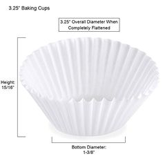 Bulk White Fluted Paper Baking Cup Liners 500/pkg (10000, 3.25 Ceramic Bakeware, Baking Cups, Ceramics, Paper, Hall Pottery, Pottery, Ceramic Art, Clay Crafts, Ceramica