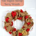 A Glimpse Inside- Fall Ruffled Burlap Berry Wreath