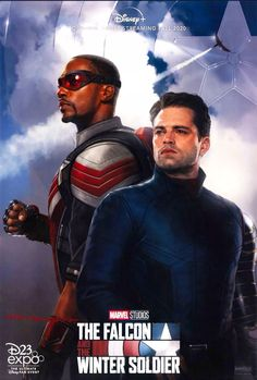 Marvel releases The Falcon and the Winter Soldier HD poster for the Disney+ series, showcasing Sam Wilson and Bucky Barnes' new costumes. Marvel Comics, Ms Marvel, Captain Marvel, Marvel Avengers, Marvel Fanart, Captain America, Disney Marvel, Baby Avengers, Bd Comics