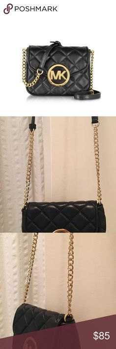 Michael Kors Quilted Crossbody Purse So cute to dress up or down! Only worn once‼️ tiny scratch on emblem (last pic) KORS Michael Kors Bags