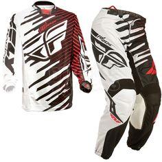 2014 Fly Racing Kinetic Shock Mesh Kit Combo - Black Red
