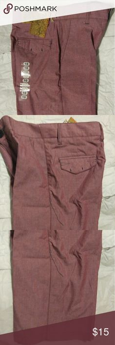 New With Tags Micros Boys Shorts Size 10 Great pair of Bermuda Style Boys Shorts.  This are New With Tags....free of any rips, stains or tears.  Smoke Free Home Shorts are burgundy color sort of two tone with a black overcast Micros Bottoms Shorts
