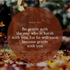 Be gentle and you will also be dealt with gently Hazrat Ali Sayings, Imam Ali Quotes, Allah Quotes, Quran Quotes, Sufi Quotes, Arabic Quotes, Islamic Love Quotes, Islamic Inspirational Quotes, Muslim Quotes