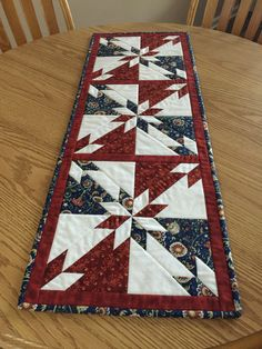 Patriotic Americana Hunter Star Quilted Table by countrysewing4U
