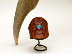Bohemian Rose Bud Leather RIng by OliRoseCollection on Etsy