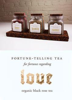 Tea Package Design by Odd 0 Design. Tea Packaging, Fortune Telling, Rose Tea, Package Design, Place Card Holders, Packaging Design, Tea Roses