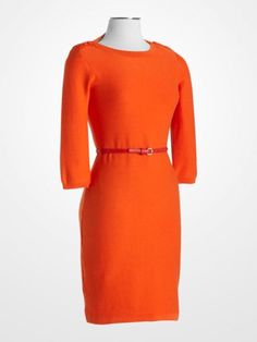 2ab52936b23 Size M - Women s Dresses - Calvin Klein Tangerine Sweater Dress - K Fashion  Superstore Calvin