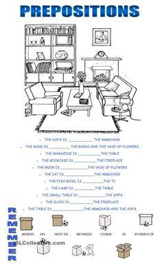 prepositions: