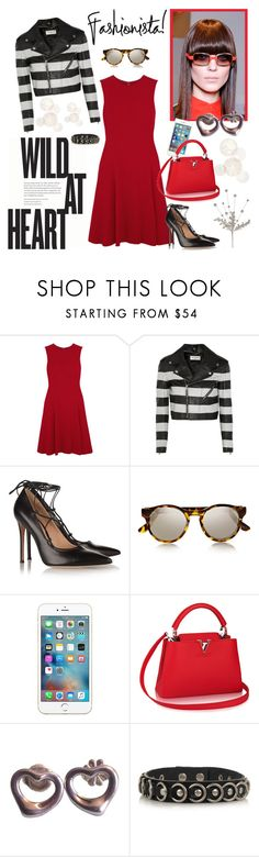 """How To Wear: LV Capucines Handbag"" by sophisty ❤ liked on Polyvore featuring Dolce&Gabbana, Yves Saint Laurent, Gianvito Rossi, Le Specs, Tiffany & Co., louisvuitton and saintlaurent"