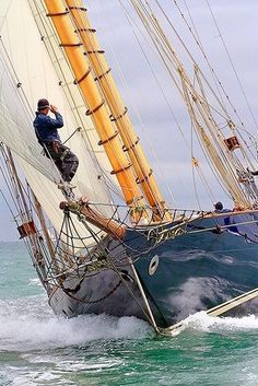 MARIETTE - photo by Chris Boynton - Classic sailing Yacht Tuiga wins overall in the Cowes Westward Cup Regatta 2010 Classic Sailing, Classic Yachts, Yacht Boat, Sail Away, Set Sail, Wooden Boats, Tall Ships, Water Crafts, Canoe