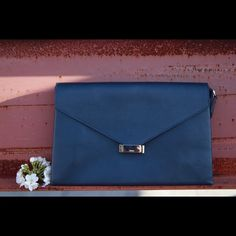 HP! 🏆 Navy Leather Clutch Envelope Bag SOOO elegant and versatile. Very similar to Celine bags. Made of real leather. Purchased in Grand Bazaar in Istanbul (they rock at making bags there! :)) Used 2 times only. See listing #2 for more pictures. Fast shipper 🏃🏻 Bags Clutches & Wristlets