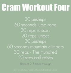 I may have to start off with this workout after the baby or my body will be in shock! LOL!