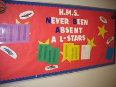 Perfect attendance visual display--N.B.A All Stars! Never Been Absent