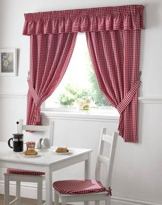 Delightful Find This Pin And More On Lakberendezés By Bokorklara. Red Gingham Curtains  ...