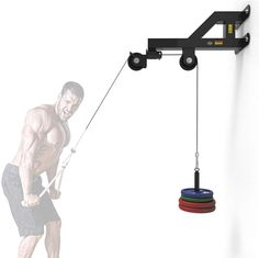 Grist CC Wall Mounted Pulley LAT Station Cable Machine - Perfect for LAT Pull Downs, Tricep Extensions, Tricep Pull Downs and All Cable Machine Exercises - The Ultimate Piece of Home Gym Equipment Home Made Gym, Diy Home Gym, Gym Room At Home, Homemade Gym Equipment, Diy Gym Equipment, No Equipment Workout, Training Equipment, Gym Setup, Backyard Gym