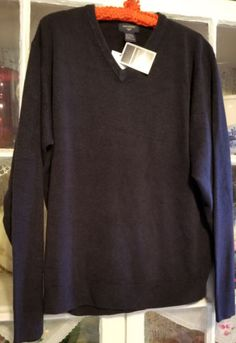 Men-039-s-Dockers-EXTRA-SOFT-Pullover-V-Neck-Sweater-Dark-Navy-M-NWT