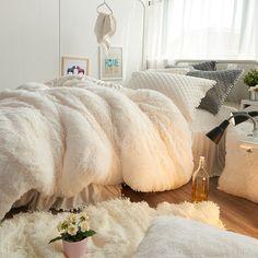 冬季法莱绒四件套加厚保暖珊瑚绒韩式公主法兰绒夹棉床裙白色1.8m