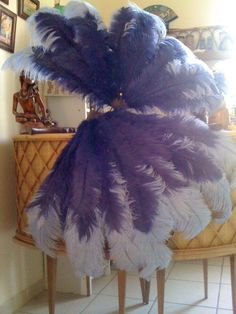 giant ostrich feather fans