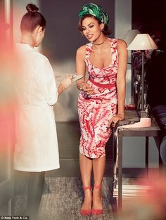 Fashion pro: Eva Mendes stuns in shots for her Spring Summer 2017 clothing line with New Y...