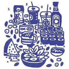 Design Envy · Mikey Burton's Experimental Food Illustration Blog, Barrel Body — Designspiration