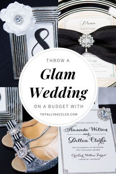 Check out this elegant black and white wedding theme. This article features tons of black and white wedding ideas and also incorporates pops of color and glam in the decorations, flowers, attire, and more. Wedding Reception Decorations, Wedding Themes, Wedding Colors, Wedding Ceremony, Wedding Ideas, Wedding Stuff, Budget Wedding, Wedding Planning, Black And White Wedding Theme