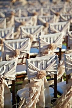 Wedding Party Chair Covers & Decor # Neutral Wedding ... Wedding ideas for brides, grooms, parents & planners ... https://itunes.apple.com/us/app/the-gold-wedding-planner/id498112599?ls=1=8 … plus how to organise an entire wedding ♥ The Gold Wedding Planner iPhone App ♥