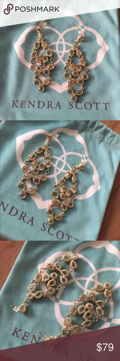 Kendra Scott Vintage Chandelier Earrings Excellent condition. Posts are straight. Stones are clear. Will be packaged with care. Kendra Scott Jewelry Earrings