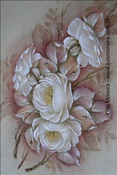 rosas pintadas brancas - Pesquisa Google