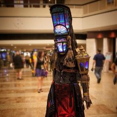 "exlibrisgirl: ""Stained Glass 'Abbey' #cosplay inspired by #Warhammer 40k at #dragoncon2014 Image by LynxPics"