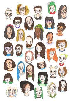 People Illustration, Cute Illustration, Character Illustration, Art Sketches, Art Drawings, Gravure Illustration, Doodle Art, Cute Art, Art Inspo