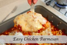 This is the Easiest Chicken Parmesan Recipe you will ever make. You can get it together in about an hour. It is sure to make your family happy or impress any guests. This recipe was in the November issue of All You Magazine.