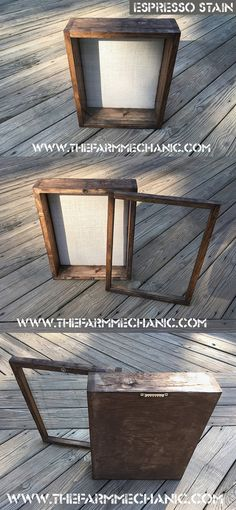 Show off your favorite photos, treasures and keepsakes with this rustic wood shadow box. Each one is handcrafted with a wood frame, which has