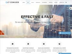LT Comuser Onepage is single page version of LT Comuser Joomla template. This template uses for telecommunications, entertainment and media, and Internet/Web services websites. It's really modern and cooperative. This is professional template to convey your company's products and services in the telecom (landline and wireless), Internet, cable, satellite, and managed services businesses.