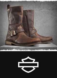 Who says you can't have stylish boots with excellent quality when you're kicking back off-the-bike? | Harley-Davidson Men's Brendan Boots - Brown