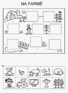 Z internetu - Sisa Stipa - Picasa Web Albums Educational Activities, Preschool Activities, Farm Theme, Cut And Paste, Busy Book, Kindergarten Worksheets, Teaching English, Pre School, Special Education