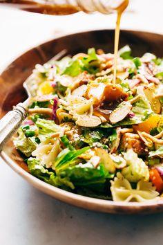 Sesame Chicken Pasta Salad with Ginger Dressing Recipe | Little Spice Jar