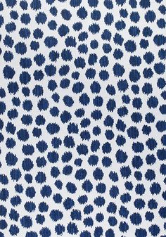 Sarah Spot Fabric from the Calypso Outdoor Fabric Collection by Thibaut, with striped animal spots in contrasting blues on an off-white ground. Perfect for deckchairs and outdoor furnishings. Spotted Wallpaper, Navy Wallpaper, Fabric Wallpaper, Pattern Wallpaper, Blue And White Fabric, Navy Fabric, Woven Fabric, Pillow Fabric, Chair Fabric