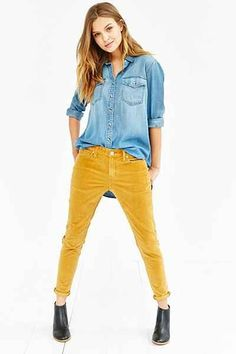 Urban outfitters, Mustard pants and Shirts on Pinterest