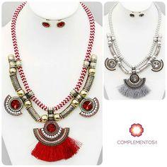 Collares otoñales que te encantaran  Contactanos : 809 853 3250 / 809 405 5555 Delivery  Envoltura disponible   #newarrivals #available #chic #bohemian #red #gray #silver #gold #necklace #autumn #accesories #byou #becomplete