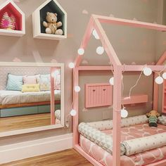 dont know why I would ever need this, but its quite possibly the cutest little girls room I've ever seen. I just love this bed.