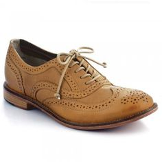 Charlie Women's Cork Leather Brogues C1814
