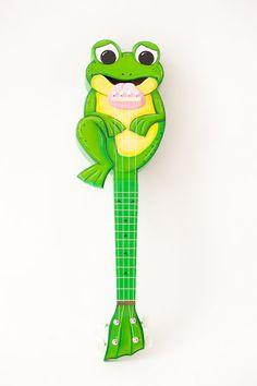 Frog ukulele by celentanowoodworks on Etsy, $650.00