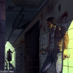 """cacoethic: """" Trager and Miles from Outlast. """""""