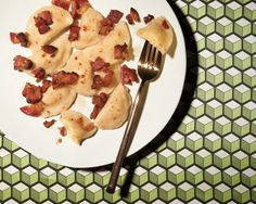 With pliant skins surrounding a rich mash of potatoes and cheese, Julia Hlinka's pierogies are the epitome of satisfying northern Slovakian farm food Instead of the traditional sheep's cheese, she uses American cheese — a reminder of her move to the United States in the 60s — which melts into the potatoes She tops the pierogies with bacon as a treat